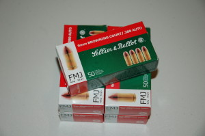 Sellier & Bellot .380 Auto 92 grain - $18.50 / box of 50